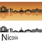 Nicosia skyline — Stock Vector