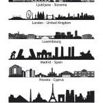 panoramę miast Unii Europejskiej - zestaw 02 — Zdjęcie stockowe