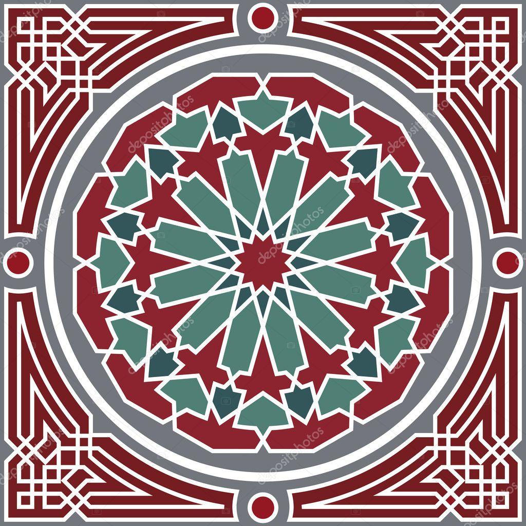 Mod le sans couture arabesque image vectorielle for Arabesque style decoration