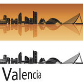 Valencia skyline — Stock Vector