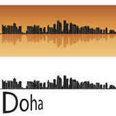 Doha skyline — Stock Vector