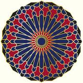 Arabic circular pattern — Stock Vector