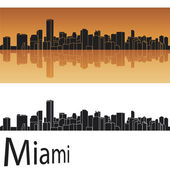 Miami skyline — Stock Vector