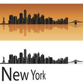 New York skyline — Vettoriale Stock