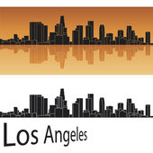 Skyline van los angeles — Stockvector