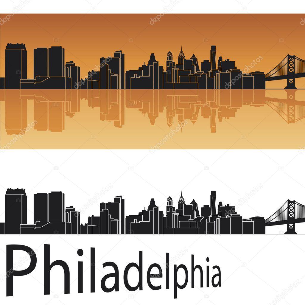 Philadelphia Skyline Stock Vector 169 Paulrommer 11446936