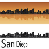 San Diego skyline — Stock Vector