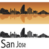 San Jose skyline — Stock Vector