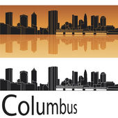Columbus skyline — Stock Vector