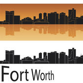 Fort Worth skyline — Stock Vector