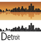Detroit skyline — Stock Vector