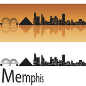 Memphis skyline — Stock Vector