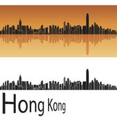 Hong Kong skyline — Stock Vector