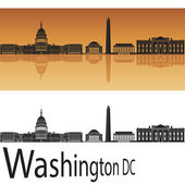 Washington DC skyline — Stock Vector