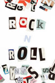 Rock n Roll inscription made with cut out letters — Stock Photo