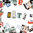 Stock Photo: Hate inscription