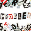 Problem inscription — Stockfoto