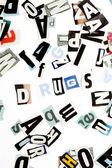 Drugs inscription — Stock Photo