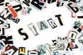 Start inscription — Stock Photo