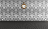Old style room with vintage clock — Stock Photo