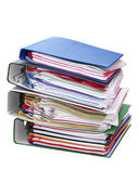 Stack of colored folders — Stock Photo