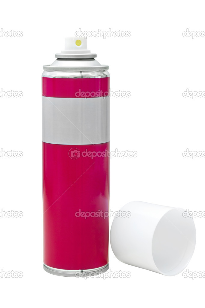 Image reddish gray with a white spray can lid isolated on white — Stock Photo #11010135