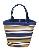 Colorful woven shopping bag — Stock Photo