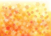 Flower Orange Background — Stock Vector