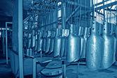 Ocelové lopaty výrobní linka — Stock fotografie