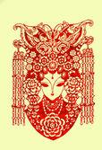 中国民间剪纸 — 图库照片