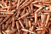 Piles of rifle bullets — Stock Photo