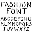 Stock Photo: Fashion font. Font with fashion accessories