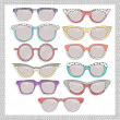 Retro sunglasses set — Foto de Stock