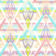 Abstract geometric seamless aztec pattern — Foto Stock