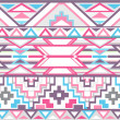 Abstract geometric seamless aztec pattern — Foto Stock #12272424