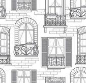 Seamless windows seamless pattern — Stock Photo