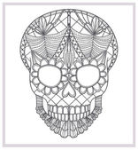 Abstract skull lace ornament. — Stock Photo
