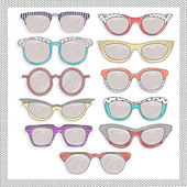 Retro sunglasses set — Stock Photo