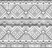 Abstract geometric seamless aztec pattern — Stockfoto