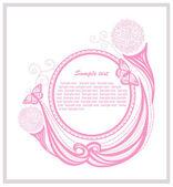 Plantilla de invitación con elementos florales — Foto de Stock