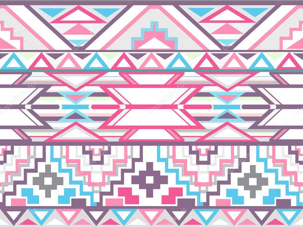 Colorful ikat style pattern  Pastel Aztec Pattern Wallpaper