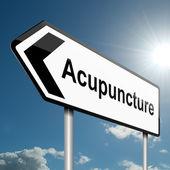 Acupuncture concept. — Stock Photo