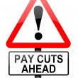 Pay cut concept. — Stock Photo