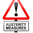 Austerity concept. — Stock Photo