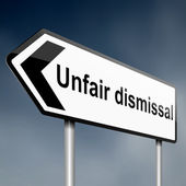 Unfair dismissal concept. — Stock Photo