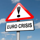 Euro crisis concept. — Stock Photo
