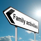 Family activities concept. — Stock Photo