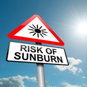 Sunburn risk concept. — Stock Photo