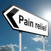 Concetto di rilievo di dolore. — Foto Stock