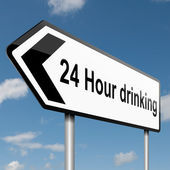 24 hour drinking. — Stock Photo